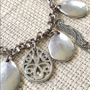 Jewelry - Teardrop Silver Charm Bracelet